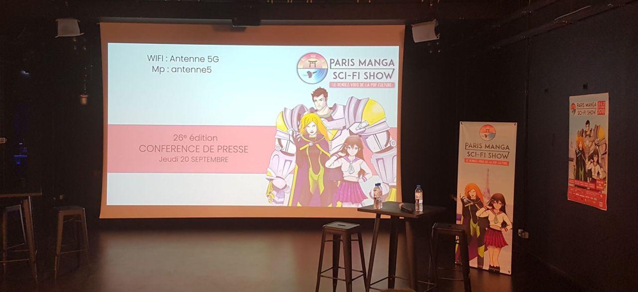 Conférence presse : Paris Manga Sci-fi Show 26èmeédition